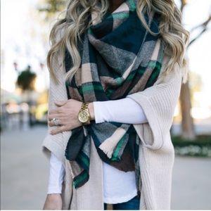 ASOS oversized plaid blanket scarf
